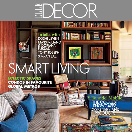 elle décor cover page features,vir residence, mumbai